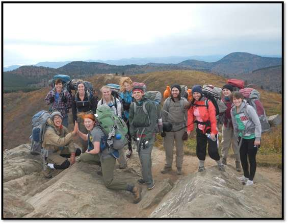 Backpacking group picture